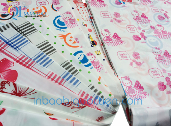 In Bao Bì Quốc Tiến - Túi nilon in hoa văn sẵn.